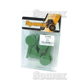 "Tapa 1/2"" Macho Y Hembra Verde 2 Pares Blister"